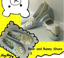bear and Bunny shoes by maymayv