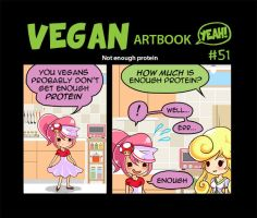 Vegans don't get enough protein by Pupastuff