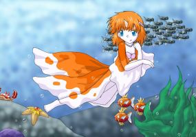 Misty Mermaid...Goldeen? by DragonessBahamut