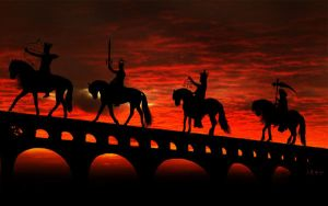 The four horsemen of apocalyps by BlackWitch185