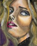 Claudia Schiffer Gouache Acrilyc by shark-graphic