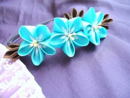 Forget-me-not headband by elblack