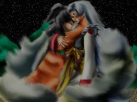 Older Rin and Sesshomaru by Shizuru-Minamino