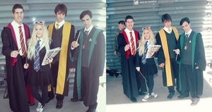 Luna Lovegood,Tom Riddle,Harry Potter and Cedric by MissWeirdCat