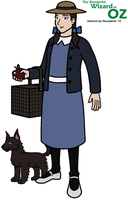Dorothy Gale and Toto by HewyToonmore