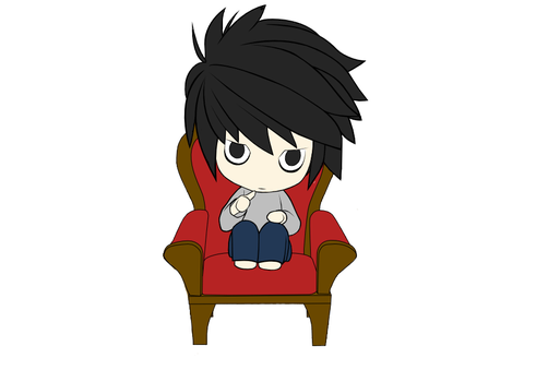 Chibi L by DeathStateforever
