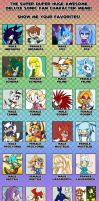 Favourite Fancharacters Meme by Dody-Inferno