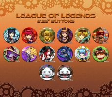 League of Legends Button Set by ikeda