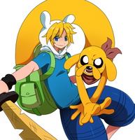 Finn and Jake by ss2sonic
