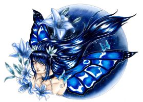 :Com: Blue Fairy by Linelana