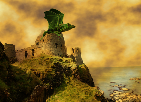Just A Dragon On Castle by egyninja