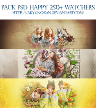 [Pack PSD] Happy 250+ Watchers by NaKyung-san
