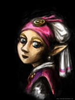 Zelda with a Pearl Earring by Tavoriel
