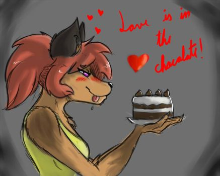 Love is in the chocolate by RikuBlindFox