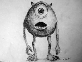 mike wazowski by Courtneyy-Jane