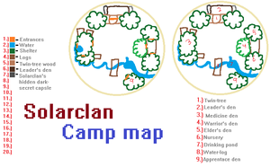 Solarclan Camp map by WILFRE-IS-AWESOME