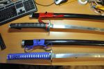 Katana sword - red and blue. by DorianExler