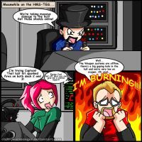 Meanwhile on the HMS-TGS... Jesse Cox is BURNING! by Chibi-Warmonger