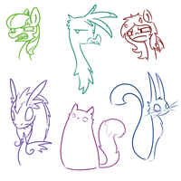 Some More Doodles by CuTTyCommando