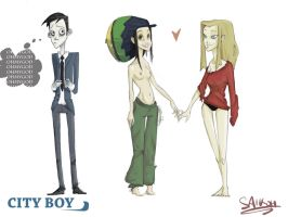 'City Boy' characters by chlove-art