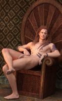 Taric in Iray (Male Nudity) by SickleYield