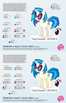 Vinyl Scratch / DJ PON-3 Color Guide 2.0 [UPDATED] by kefkafloyd