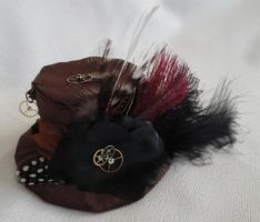 Steampunk Tiny Top Hat by Sparkling-Sky