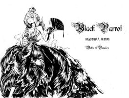 tulip black parrot girl by dolls-of-paradox