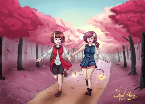 Walking in the woods  (Drawing Contest) by DevilMarie