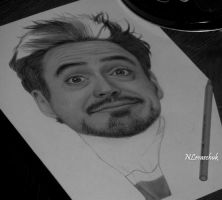 Robert Downey Jr. WIP by NLevaschuk