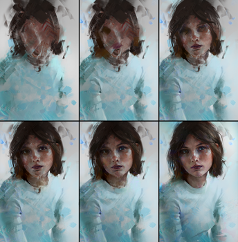 Colour Study 02 Process by AaronGriffinArt