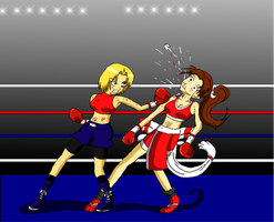 Request: Mai Shiranui vs Mary by nakajimachie66