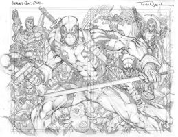 Heroes Con: Deadpool pencils by ToddNauck