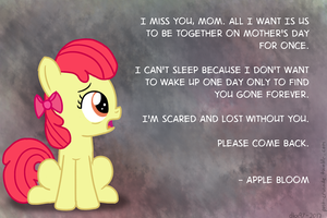 Apple Bloom's Mother's Day Plea by postcrusade