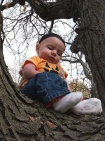 baby in a tree by Klutzillia