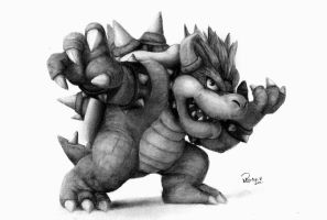 Bowser The King Of The Koopas by reniervivas666