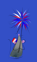 Day 296. The Marvelous Independence Rat by AClockworkKitten