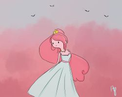 Princess Bubblegum by Rosita-Pink