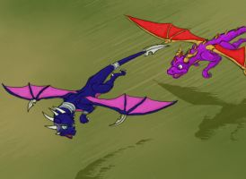 Spyro Chase Cynder Panel 1 by Spartan-029