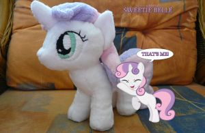 Sweetie Belle Plushie by navkaze