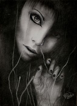 Darkness - Drawing by yana182