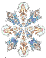Hippy Chick Mandala by FallSec0ndM0re