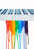 Rainbow Piano by Strange-1