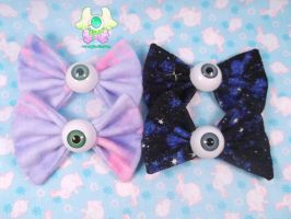 Eyeball Bows by RarasJewels