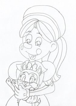 Annabelle holding Figgy by Lazbro64