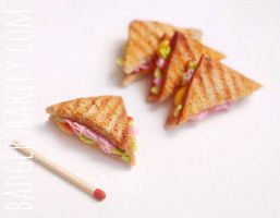 miniature clay sandwiches by BadgersBakery