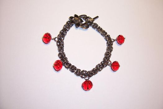 Black Chainmaille Bracelet by Libbyscreations