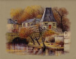 Brantome Autumn by JohnPatience