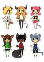 Random Kemonomimi Adopts .:OPEN:. by BananaBread9112