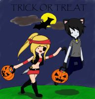 Trick or treat fiolee by KimikoTohomikomii